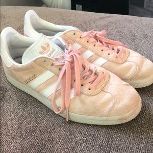 Blush Pink Adidas Gazelle Sneakers